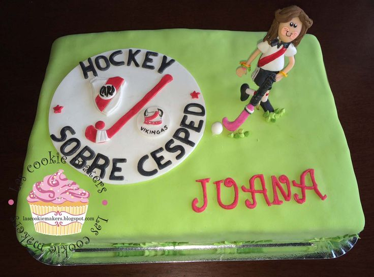 HOCKEY GIRL CAKE -  TORTA HOCKEY NENA lascookiemakers@gmail.com