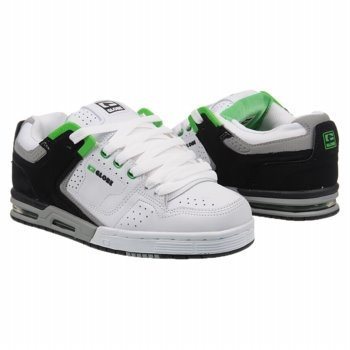 Globe Cleaver Shoes (White/Black/Green) - Men's Shoes - 11.5 M