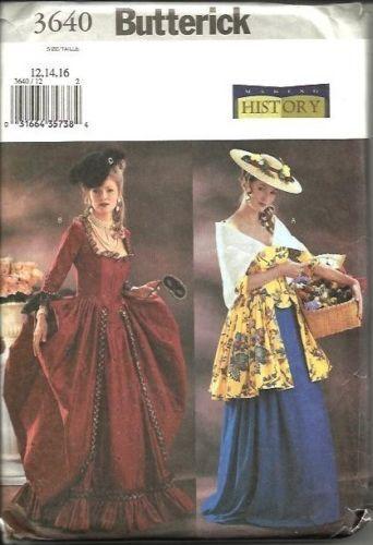French-Revolution-circa-1790-Dress-12-14-16-Butterick-3640