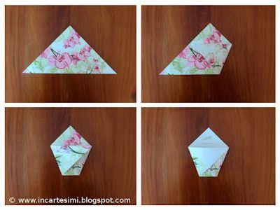 Incartesimi: Bustine origami portaconfetti, portariso o portapetali - Tutorial