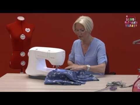 Kendi Modanı Yarat - Dikişi Pratik, Askılı Uzun Elbise Yapımı - YouTube