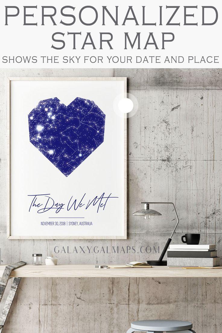 Erstellen Sie Ihre persönliche Sternenkarte für dieses besondere Datum – Geschenk für Freund, Geschenk …   – Gift For Boyfriend