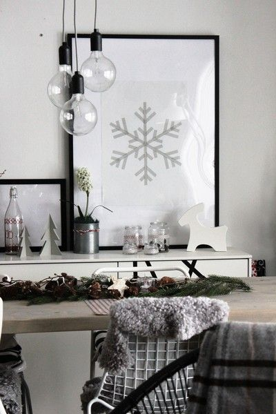 Washi Tape Snowflake | framed or right on the wall