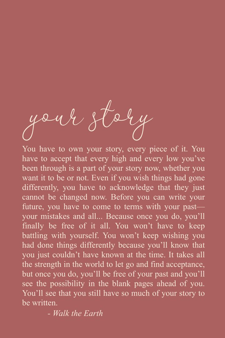 Own Your Story Quotes Healing Inspirational