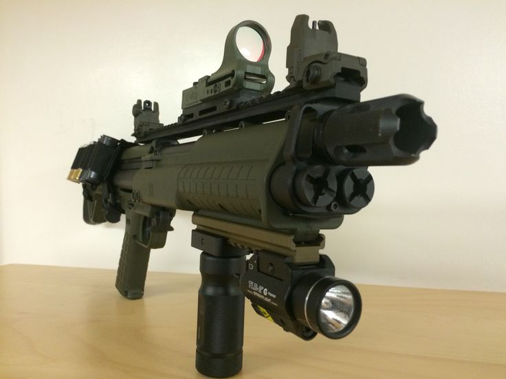 Ksg With Cmore Sight Streamlight Strobe Light And Green