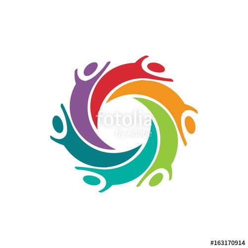 """Happy Children People Logo Vector Design Graphic Illustration"" Stock image and royalty-free vector files on Fotolia.com - Pic 163170914"