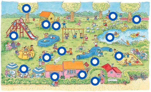 Interactieve praatplaat Naar de speeltuin (getekend door Dagmar Stam) by Paula Prevoo