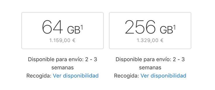 El stock del iPhone X se hace cada vez más frecuente