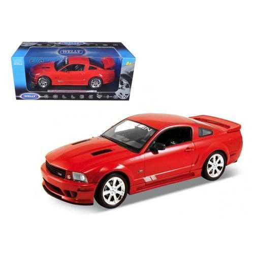 2007 Ford Mustang Saleen S281E Silver Diecast 1/18