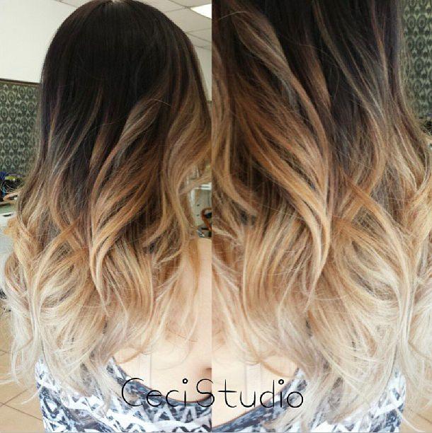 This is the best ombre I have seen. Black to platinum blonde so subtly.
