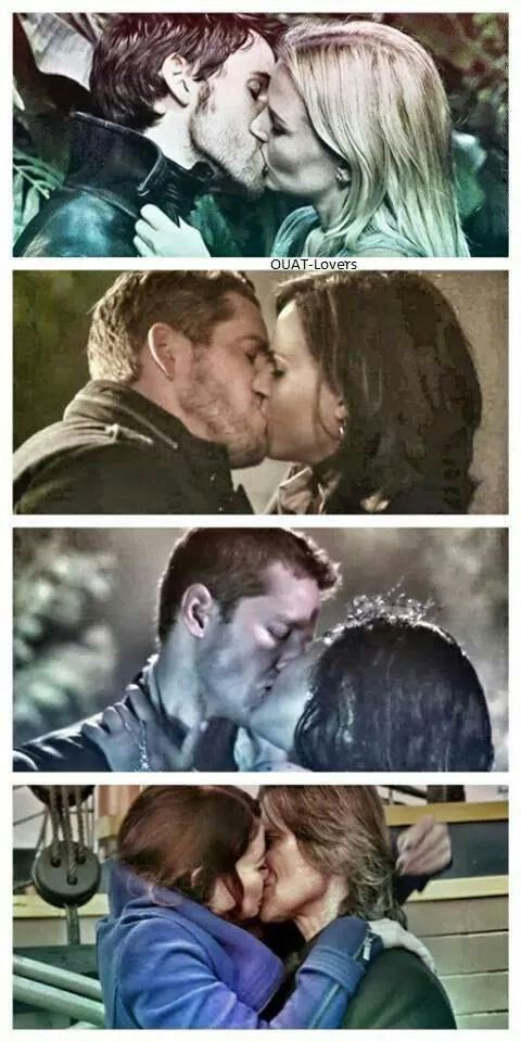 Once upon a time couples! So cute! :) I wonder what will happen to regina and robin, and hook and Emma in season 4?