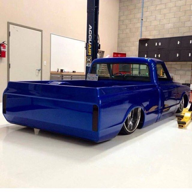 Hot Wheels - Oh yeah that classic rear quarter shot of @paintbylee sweet C10 getting ready to roll. Such a cool truck! @accuair @lewis_milinich_body_shop #chevrolet #gmc #c10 #carporn #hotrod...
