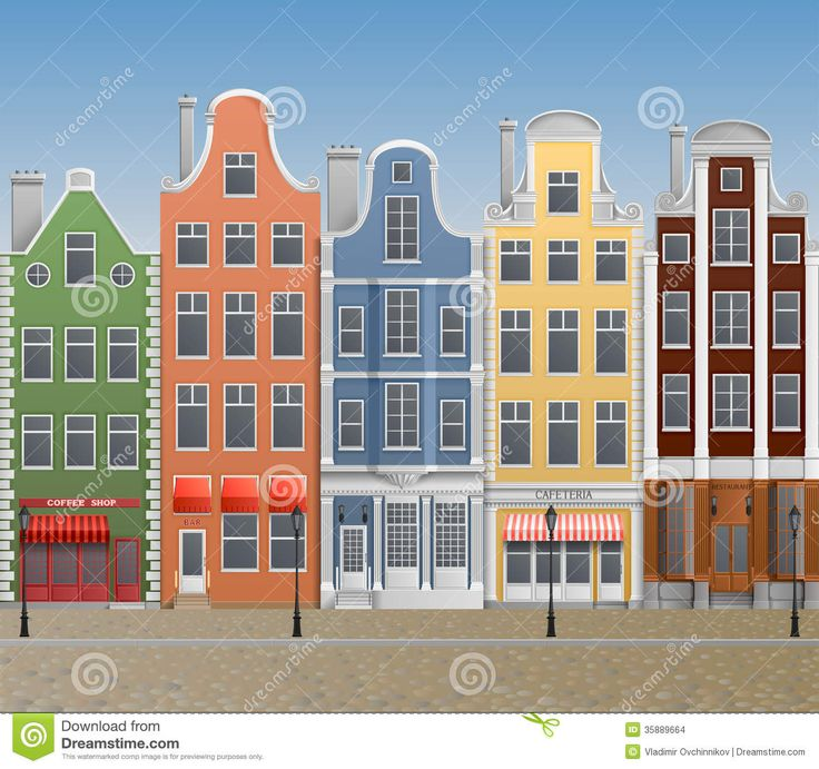 european-town-illustration-old-historical-buildings-35889664.jpg (1300×1221)