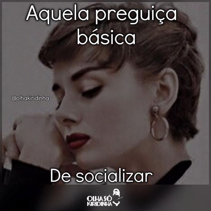 Preguiça básica de socializar