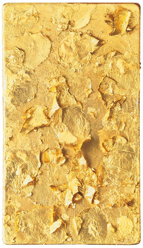 "Yves Klein, Monogold,""Age d'or,"" 1960.  Art Experience NYC  www.artexperiencenyc.com"