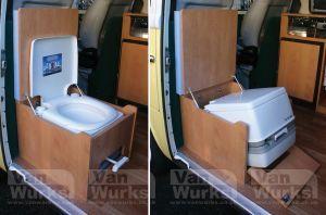 Porta Potti Built In Option Rv Caravan Interior Ideas