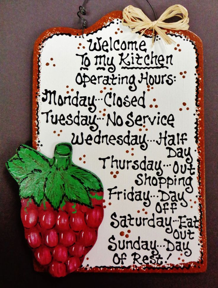White Sign GRAPES Kitchen Operating Hours Plaque Wood Wall Tuscan Fruit  Decor #Unbranded #COUNTRY