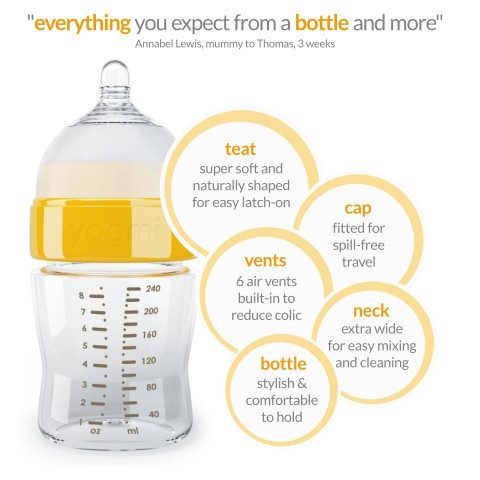 Yoomi self heating bottle! Perfect for away from home feeding
