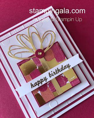 Stampin Gala Facebook Live Gift Set Happy Birthday Cards Handmade Greeting