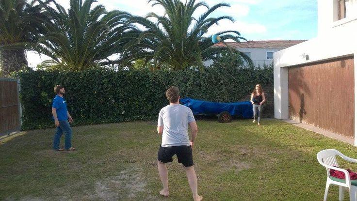 Sunday afternoon volleyball anyone? #capetownvolunteer #ctrci