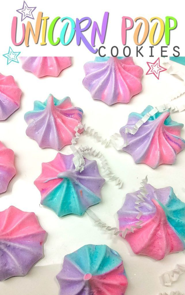 Unicorn Poop Cookies Recipe —Whimsical, rainbow colored meringue!