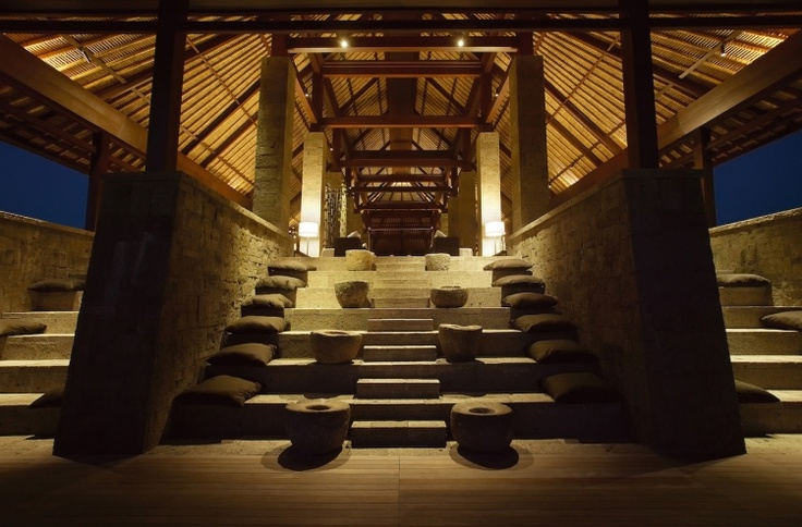 The intimate, evening ceremony would be held in the Pavillion.  #BulgariResortBaliEscape