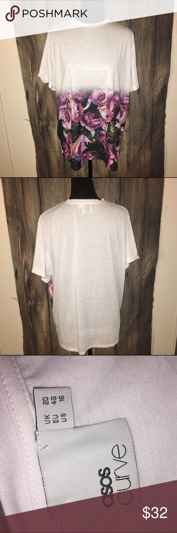 Size 16 floral ASOS curve t shirt So cute ASOS Curve Tops Tees - Short Sleeve