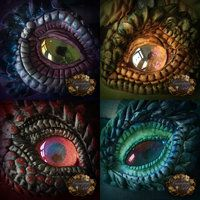 Clay dragon eyes by *CassiopeiaArt on deviantART