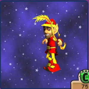 Fire Elf from wizard 101.  This is what my four year old wants to be for halloween | That'd be a great and easy costume! Let us know how it turns out!