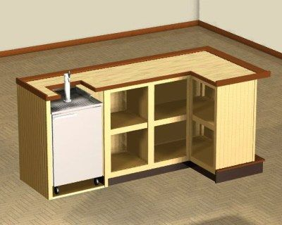 Home Bar Plans - Easy Designs to Build your own Bar - Speedy-Build L-Shaped