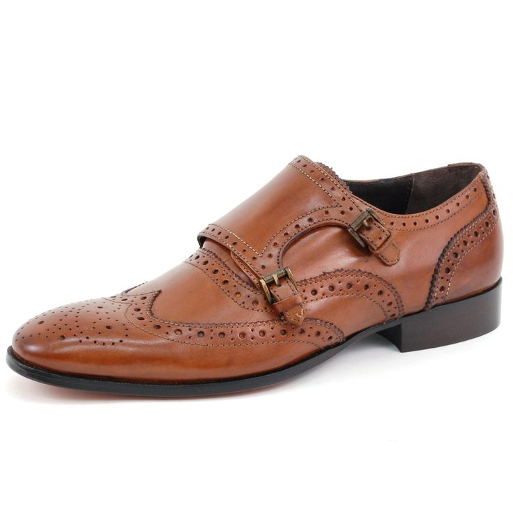 Giorgio Brutini Men's Tan Fine Leather Wing Tip Loafers 9.5 M US