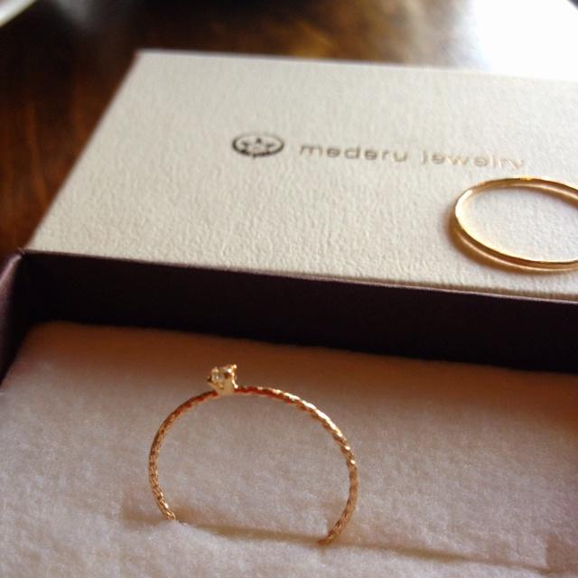 tiny diamond ring -mederu jeweiry