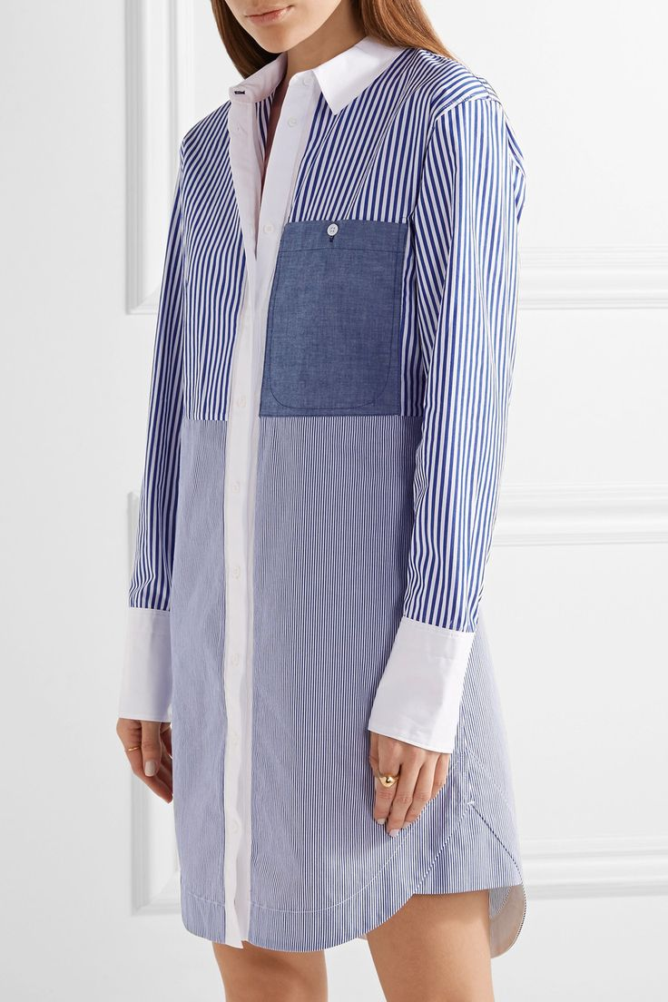 Elizabeth and James | Jay striped cotton-poplin mini shirt dress | NET-A-PORTER.COM