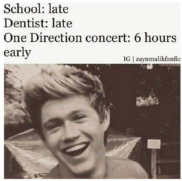 We were 5 hours early when we went to the 1D concert in Atlanta.