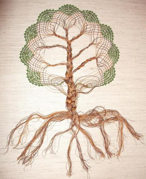 Bobbin lace tree by Lynda How about in color.