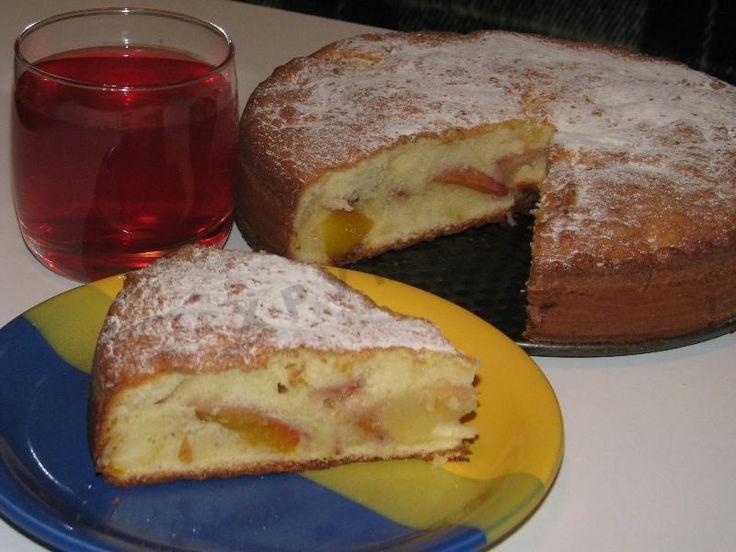 Персиковый пирог с персиками