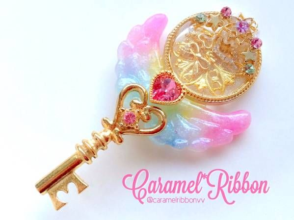Caramel*Ribbon*魔法の鍵ネックレス*キャラメルリボン_画像1