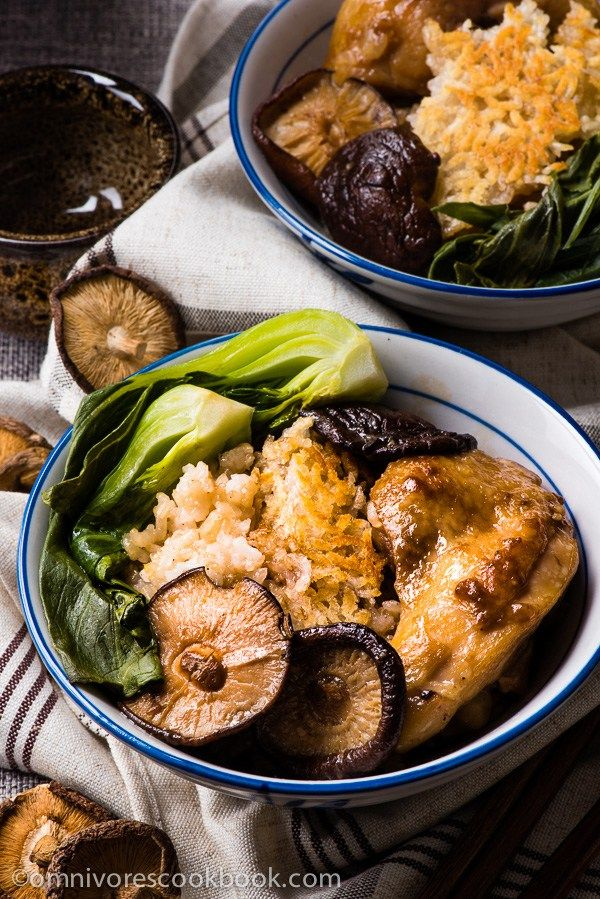 The Best Clay Pot Chicken Rice - the recipe teaches you the easiest way to create a super flavorful one-dish meal without a clay pot or rice cooker   omnivorescookbook.com