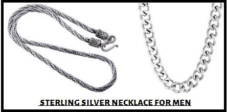 We provide fine and fashionable sterling silver necklace for men online at the lucrative price.