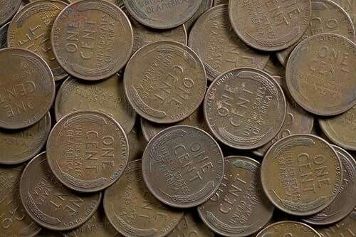 Wheat pennies ( Have several coffee cans filled with wheat pennies.)