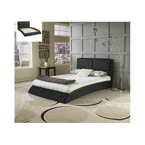 Queen-Size-Bed-Frame-Platform-Frame-Bedroom-Furniture-Modern-Leather-Headboard