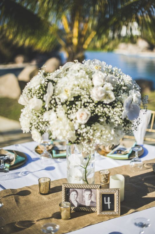 Beach Wedding Flower Centerpieces White Roses Baby S