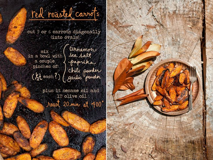 Red Roasted Carrots  Photos and illustrations by Erin Gleeson