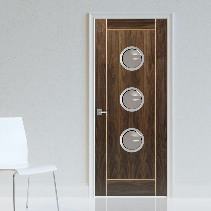 JBK Porthole 3 Vina Walnut Fire Door with Oak Inlays is Pre-Finished - 30 Minute FC  , this door will provide good fire safety for your office. #officedoor #portholedoor #moderndoor