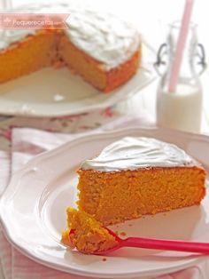 Bizcocho de zanahoria, ¡la receta más rica del mundo! , Bizcocho de zanahoria. Esta receta fácil de bizcocho de zanahoria os sorprenderá por su sabor. Con él prepararás la tarta de zanahoria más rica del mundo.