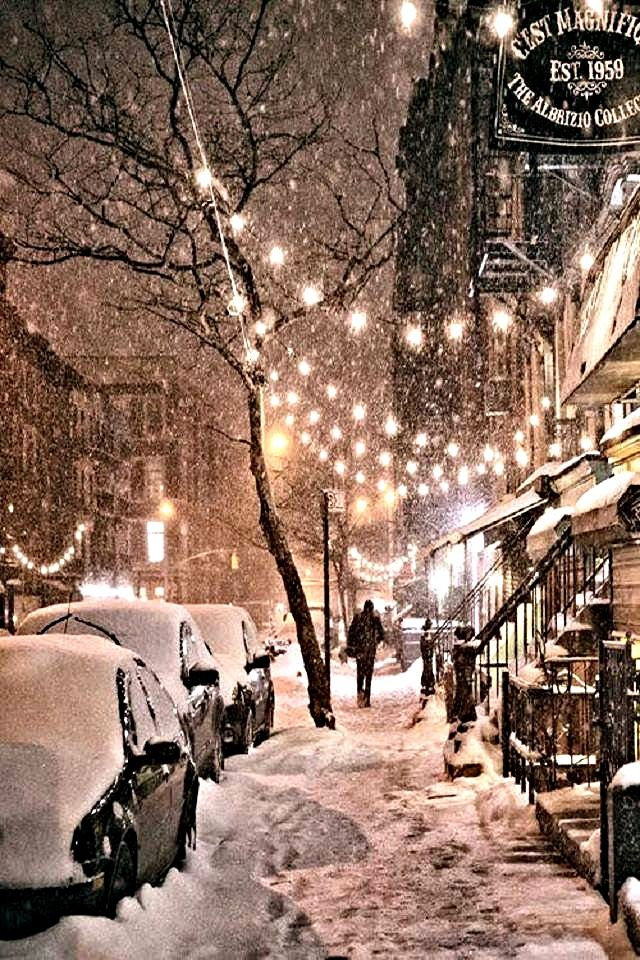 Winter night in New York City