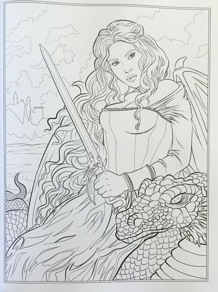 dark fantasy coloring pages - photo#21