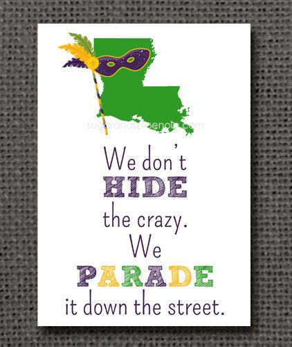 5x7 Mardi Gras Print King Cake Parade New by sugarandspiceNOLA