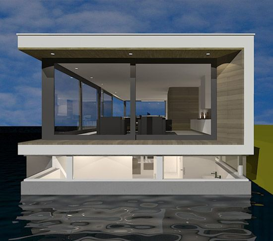 Nieuwbouw woonboot Utrecht door architect amsterdam | houseboat