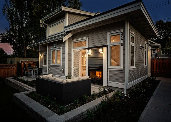 this 750 square foot custom laneway house has a spacious
